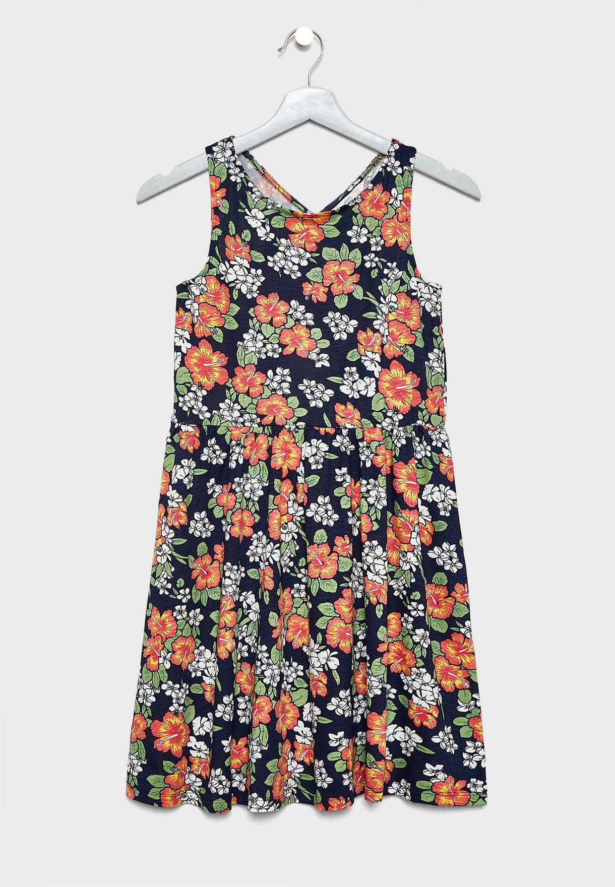 فستان اطفال بطبعات زهور