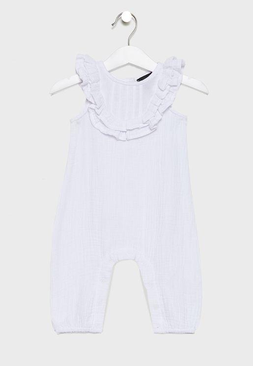 Infant Ruffle Neck Bodysuit