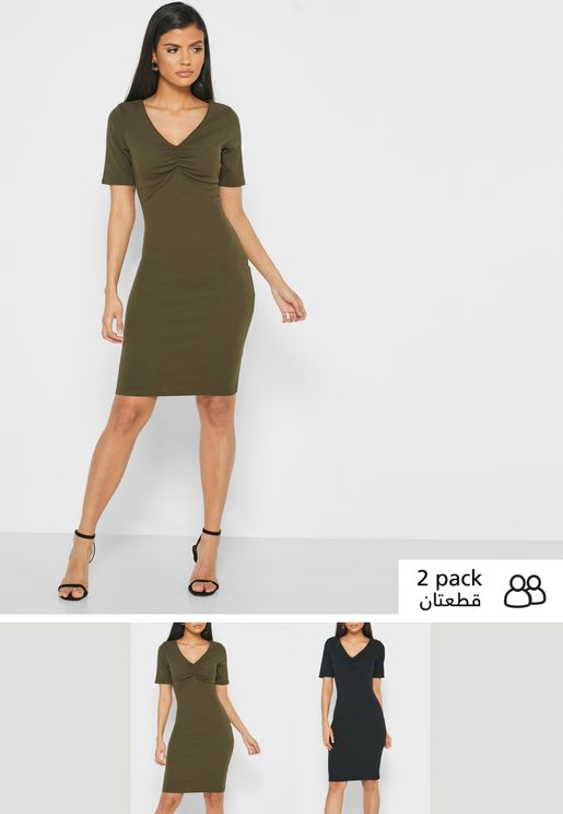 2 Pack Bodycon Dress