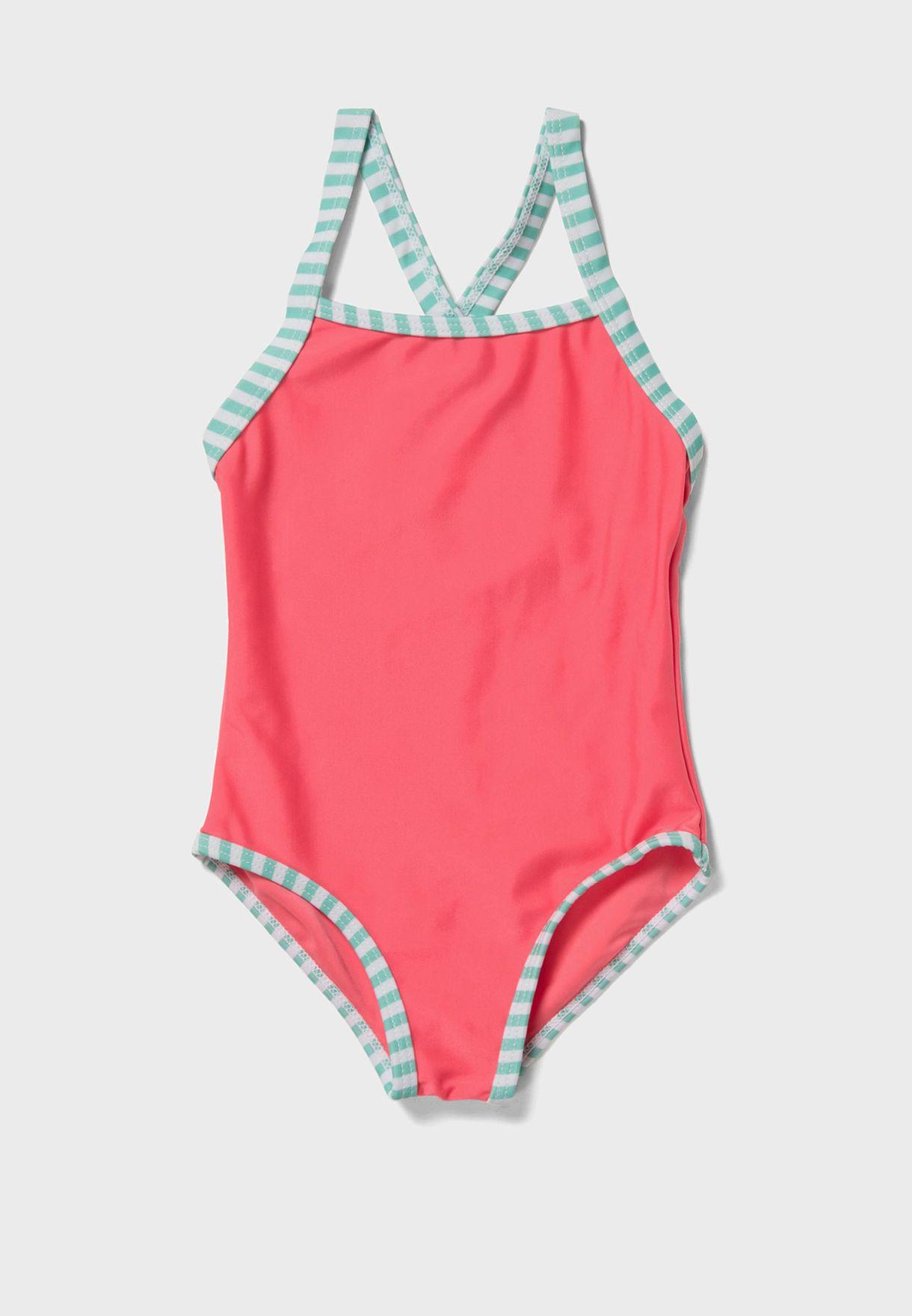 Infant Striped Edge Swimsuit