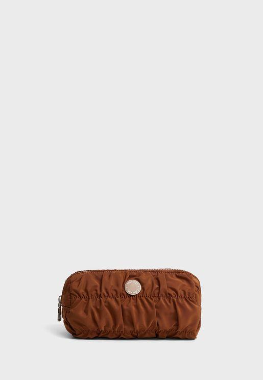 Ruffled Cosmetic Bag