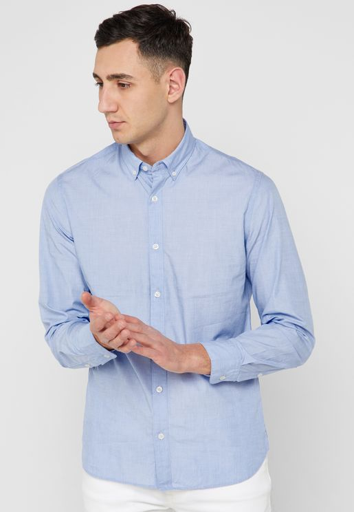 Slim Fit End On End Shirt