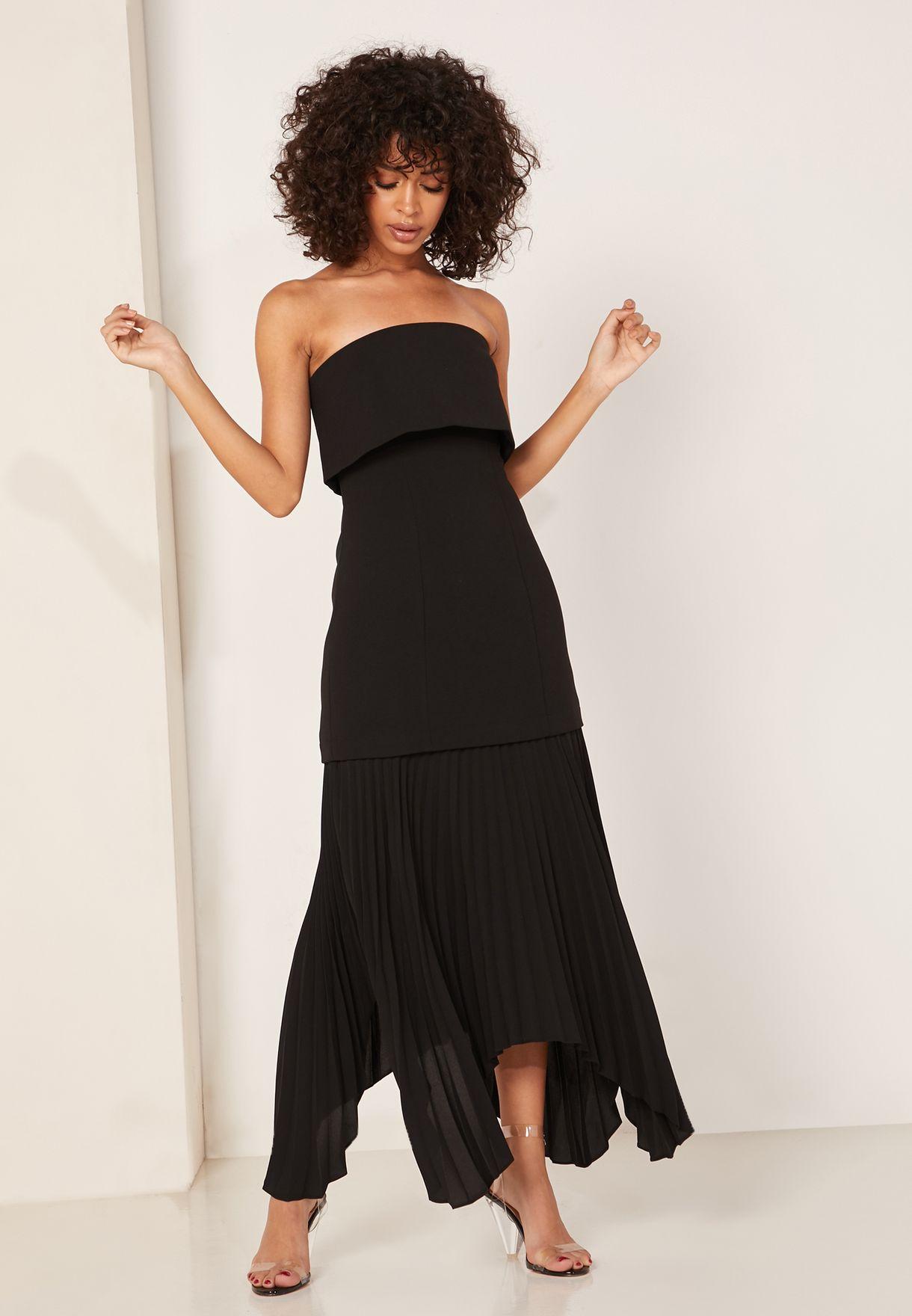 فستان باندو بطيات