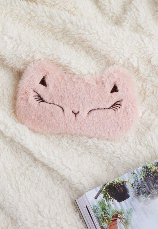 Faux Fur Cat Eye Mask