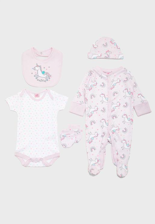 Infant 5 Piece Unicorn Gift Set