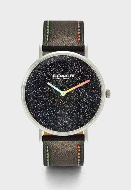 14503033 Leather Strap Analog Watch