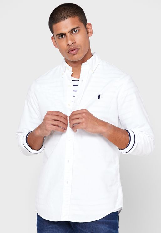 قميص قطني بشعار الماركة