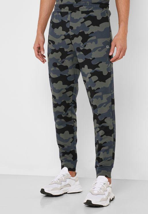 Camo Knit Cuffed Sweatpants