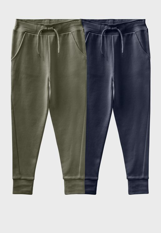 Kids 2 Pack Essential Sweatpants