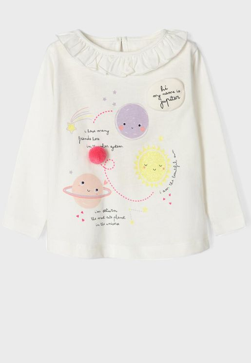 Infant Space Print Top
