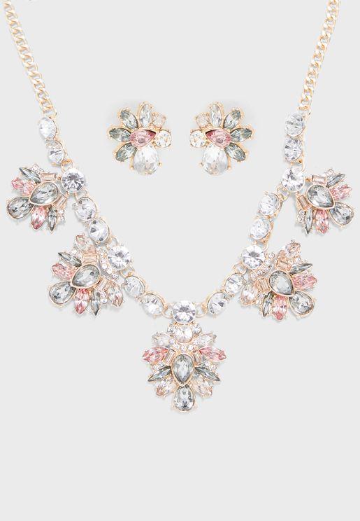 Covoada Necklace+Earrings Set