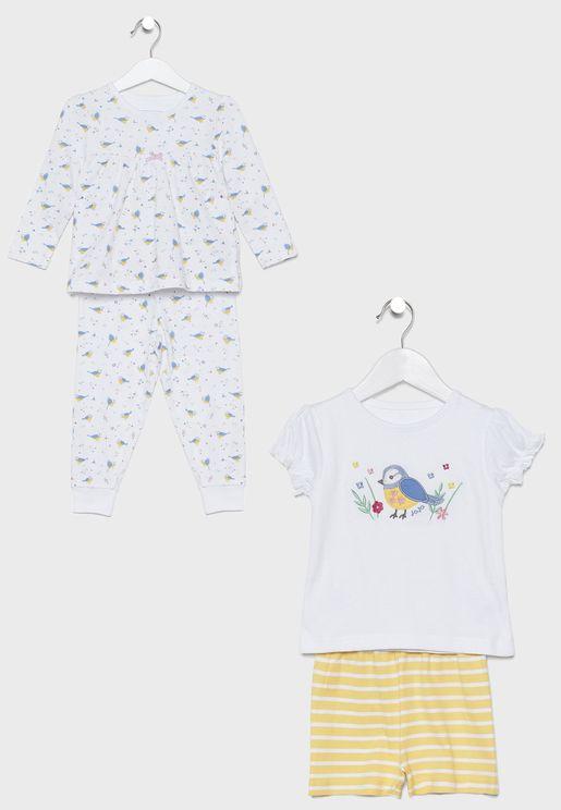 Kids 2-Pack Jersey Pyjama Set
