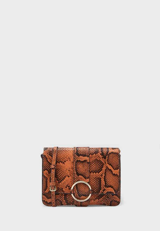 Coca Snakeskin Effect Crossbody
