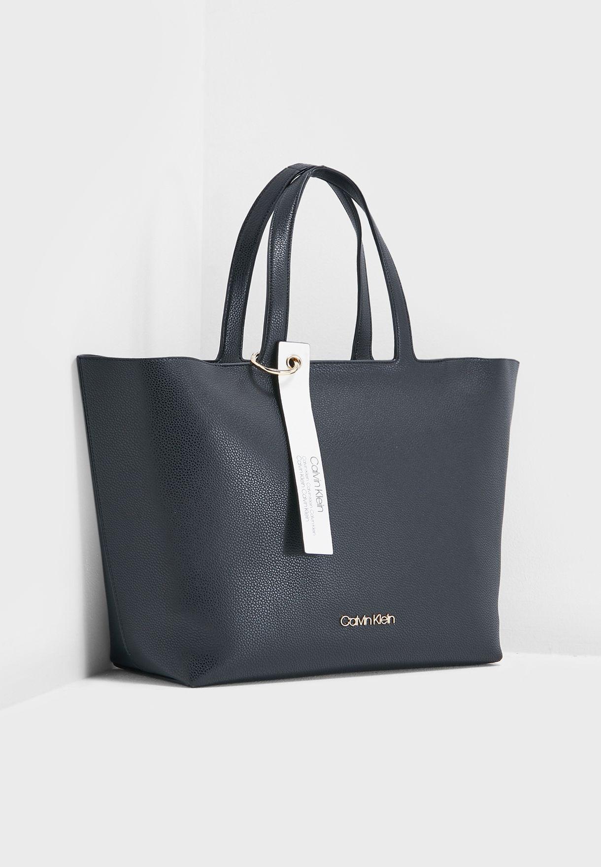 229bd46e7bd93 Shop Calvin Klein black Neat Shopper K60K605056001 for Women in UAE ...