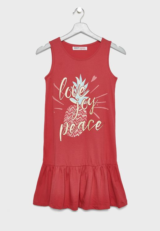 Teen Love Joy Peace Dress