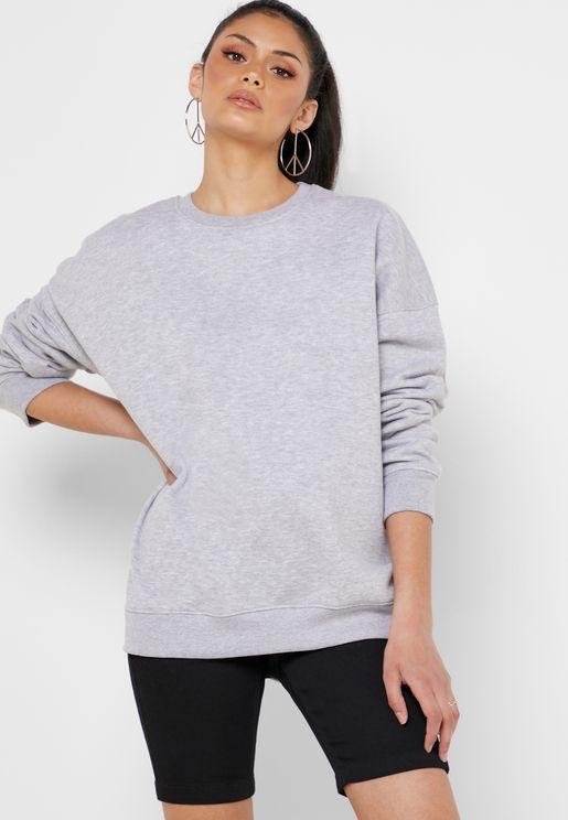 27b934ed13 Oversized Textured Sweatshirt. Missguided. Oversized Textured Sweatshirt