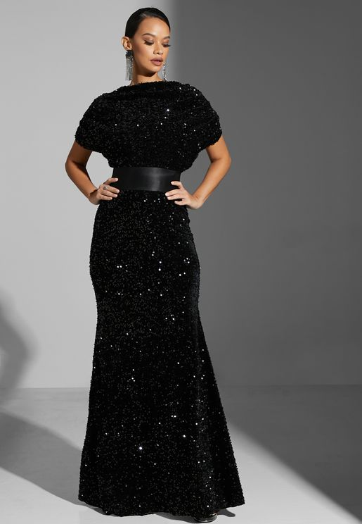 Sequinned Gown