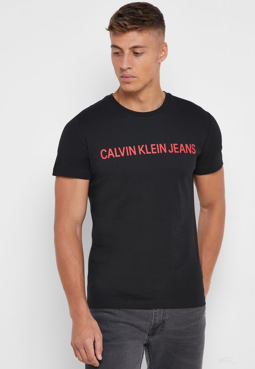 Institutional Logo Crew Neck T-Shirt