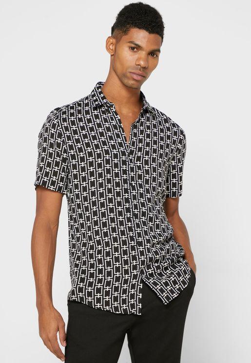 Chain Print Slim Fit Shirt