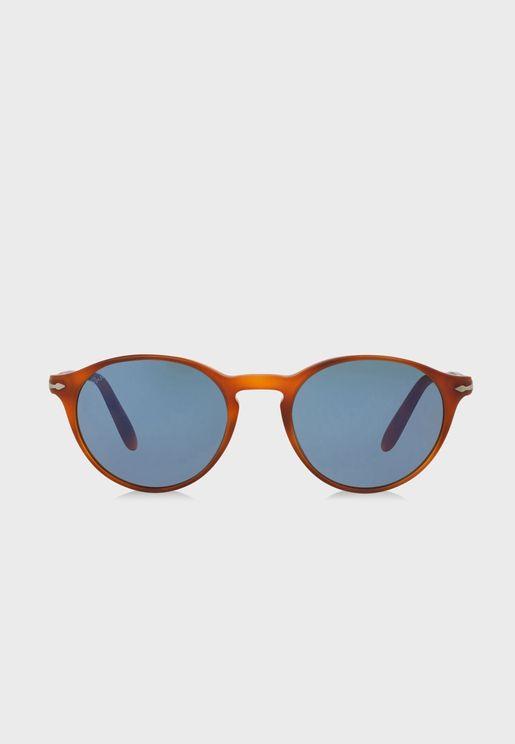 0PO3092SM Round Sunglasses