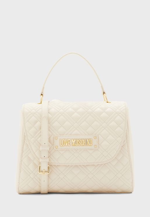 Quilted Flap Over Satchel