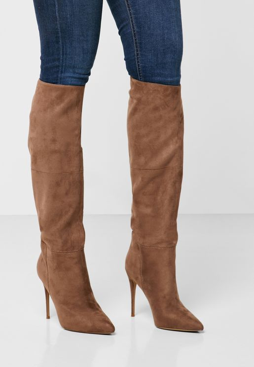 Dakota Mid Heel Knee Boot