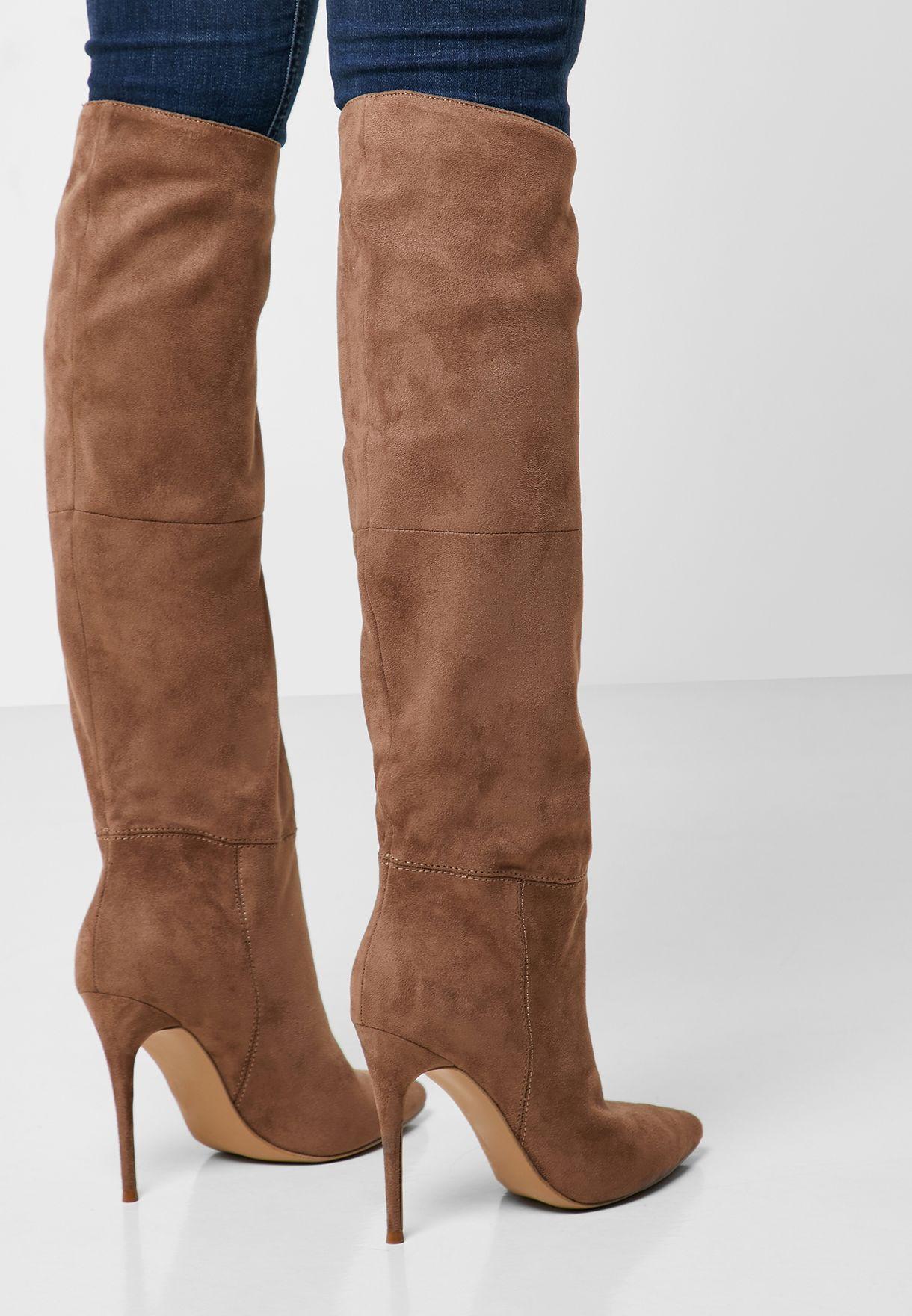 Dakota Mid Heel Knee Boot