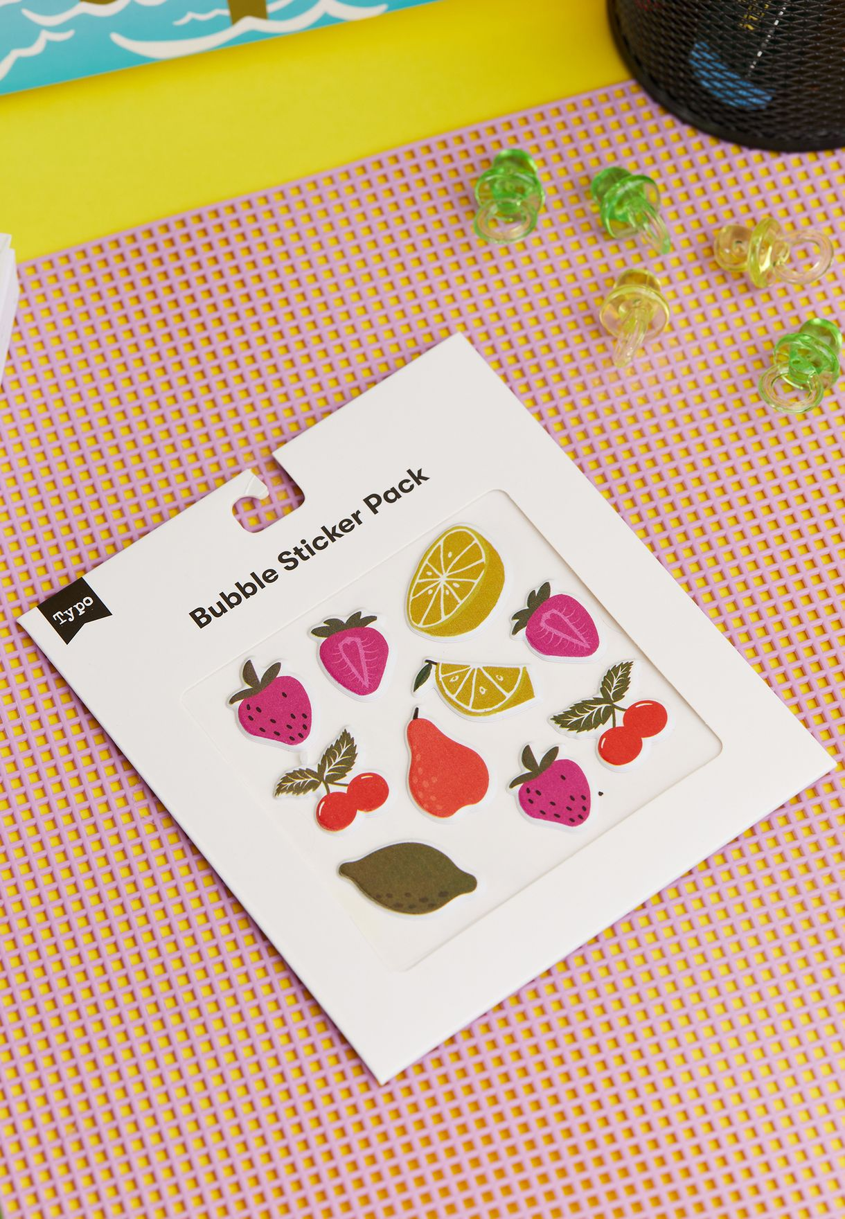 Abstract Fruits Puffy Sticker Pack