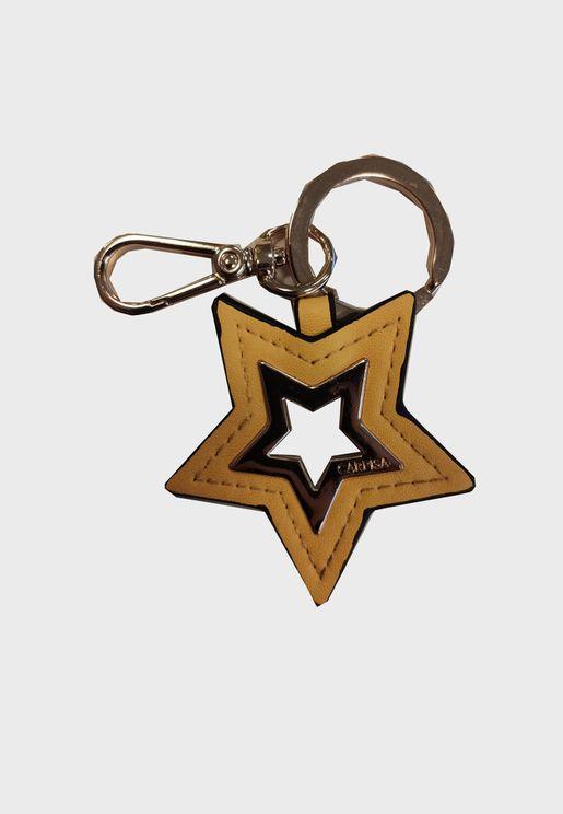 حلقة مفاتيح بحلية نجمة