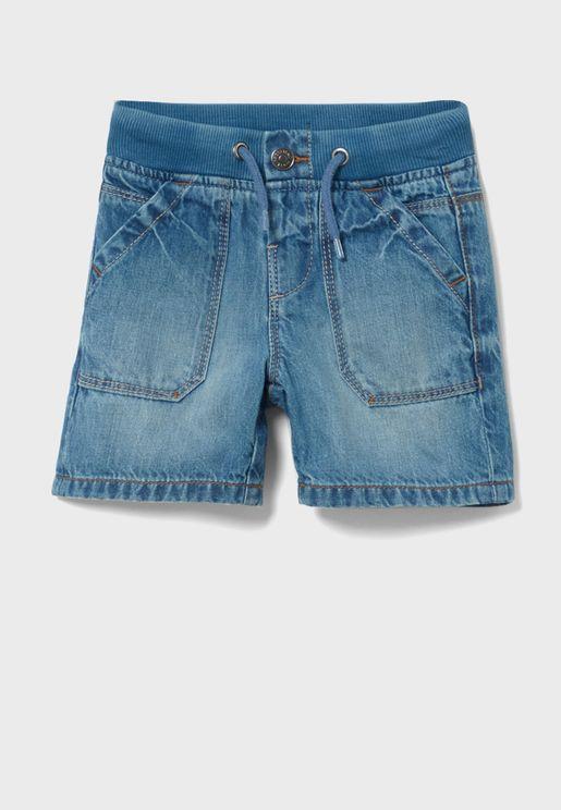 Infant Mid Wash Denim Shorts