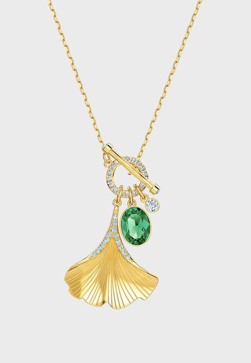 Stunning Ginko Stone Pendant Necklace