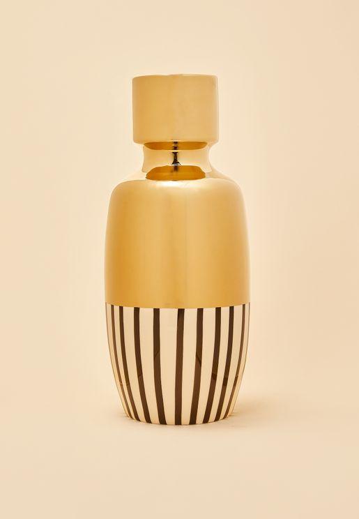 Cassia Stripe Ceramic Vase