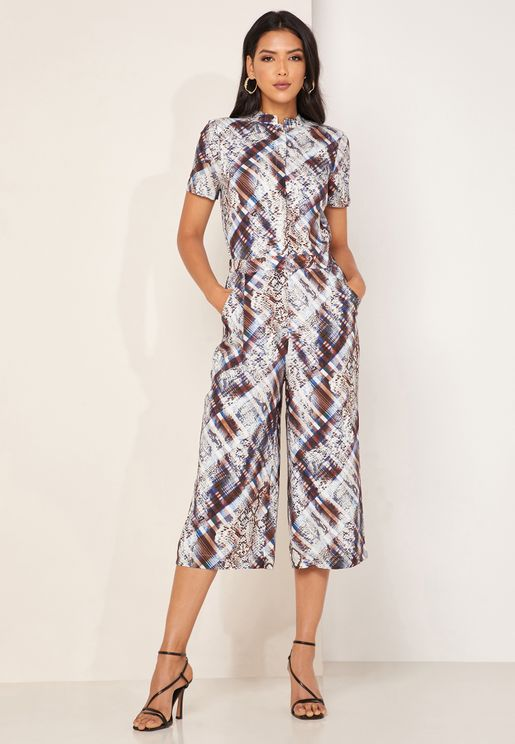 Balay Wide Leg Printed Jumpsuit