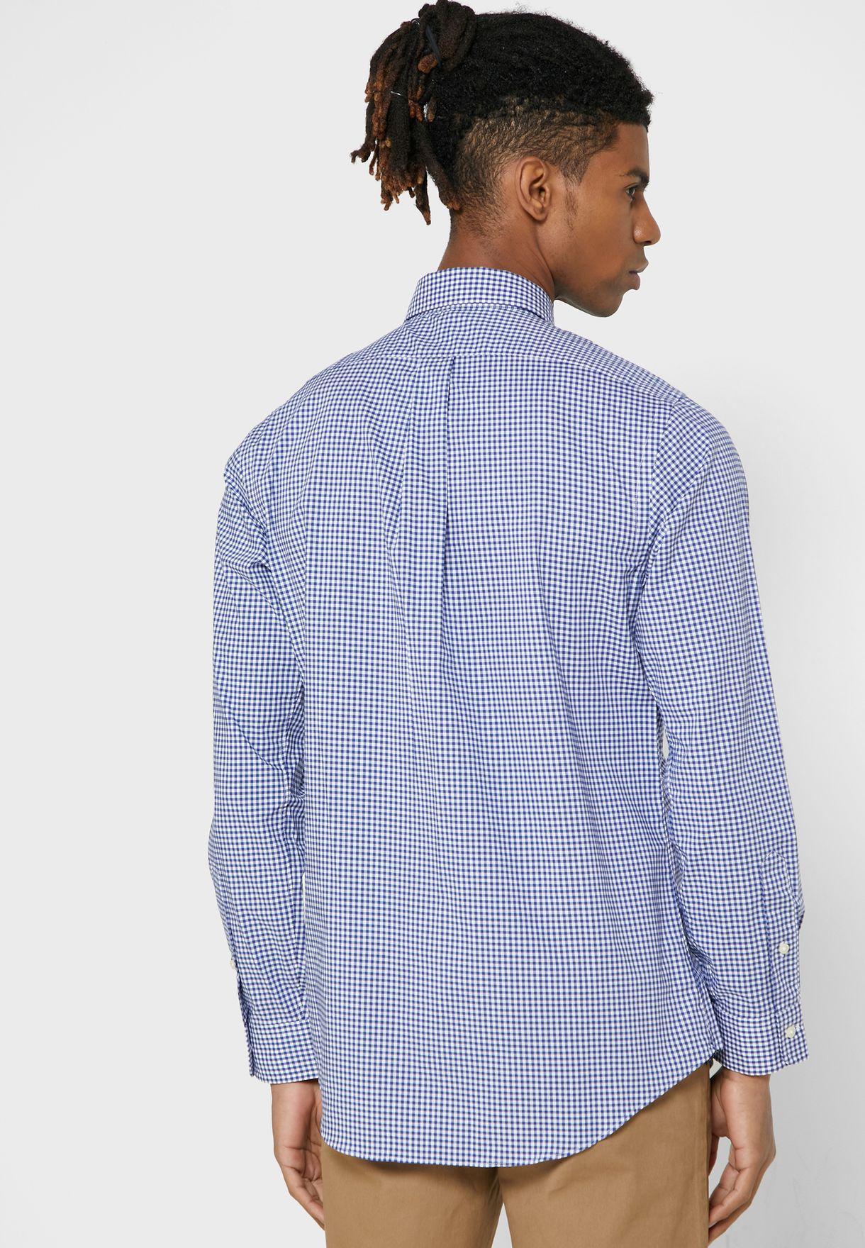 قميص سليم فت بطبعات مربعات