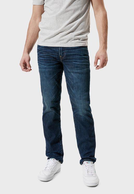 Straight Dark Wash Jeans
