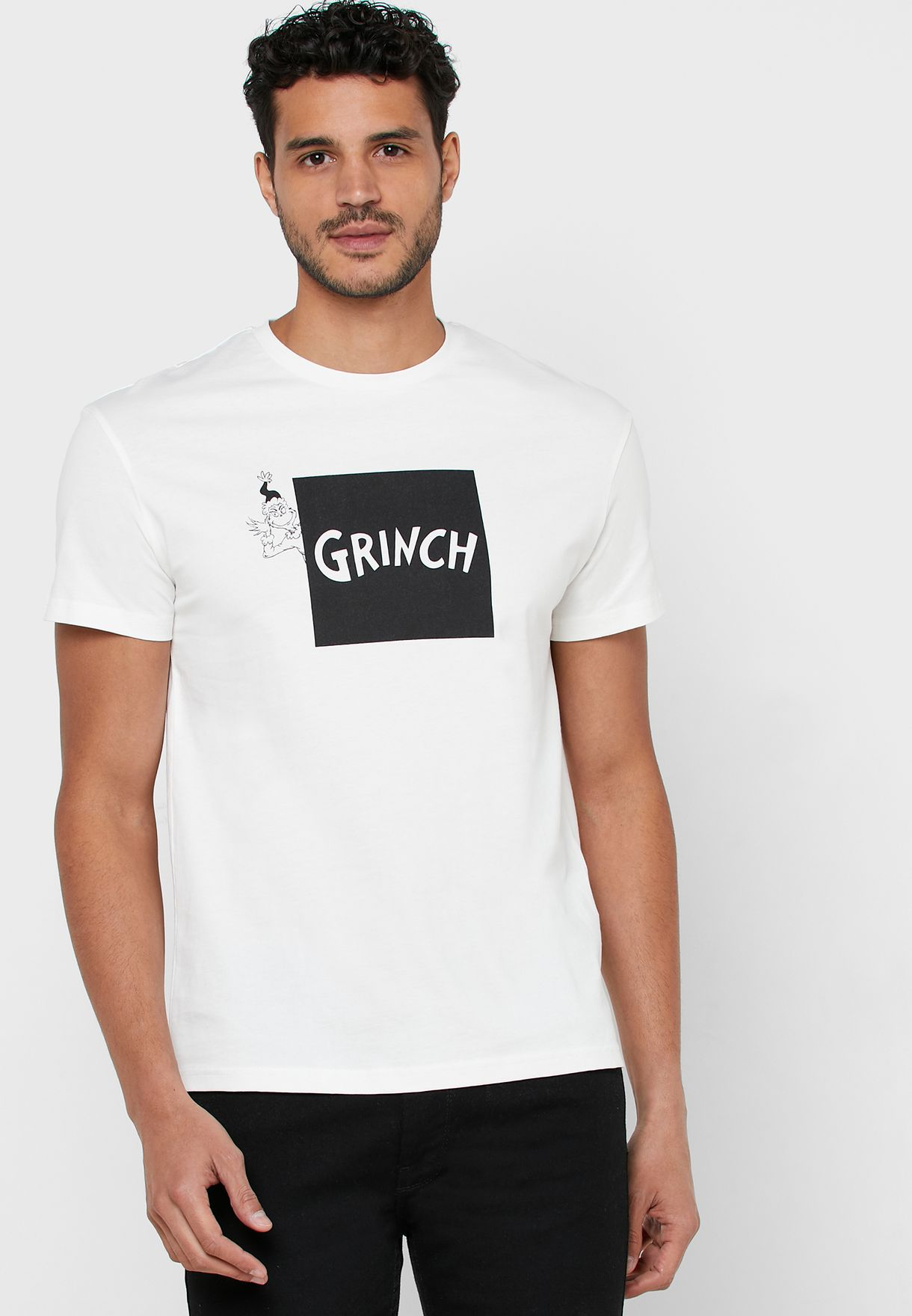 Grinch Relaxed Fit Crew Neck T-Shirt