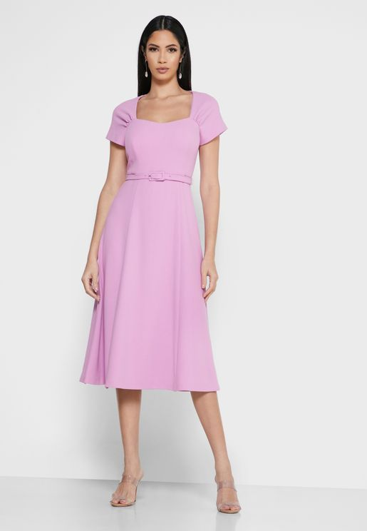 Dr Emmy Square Neck Skater Dress