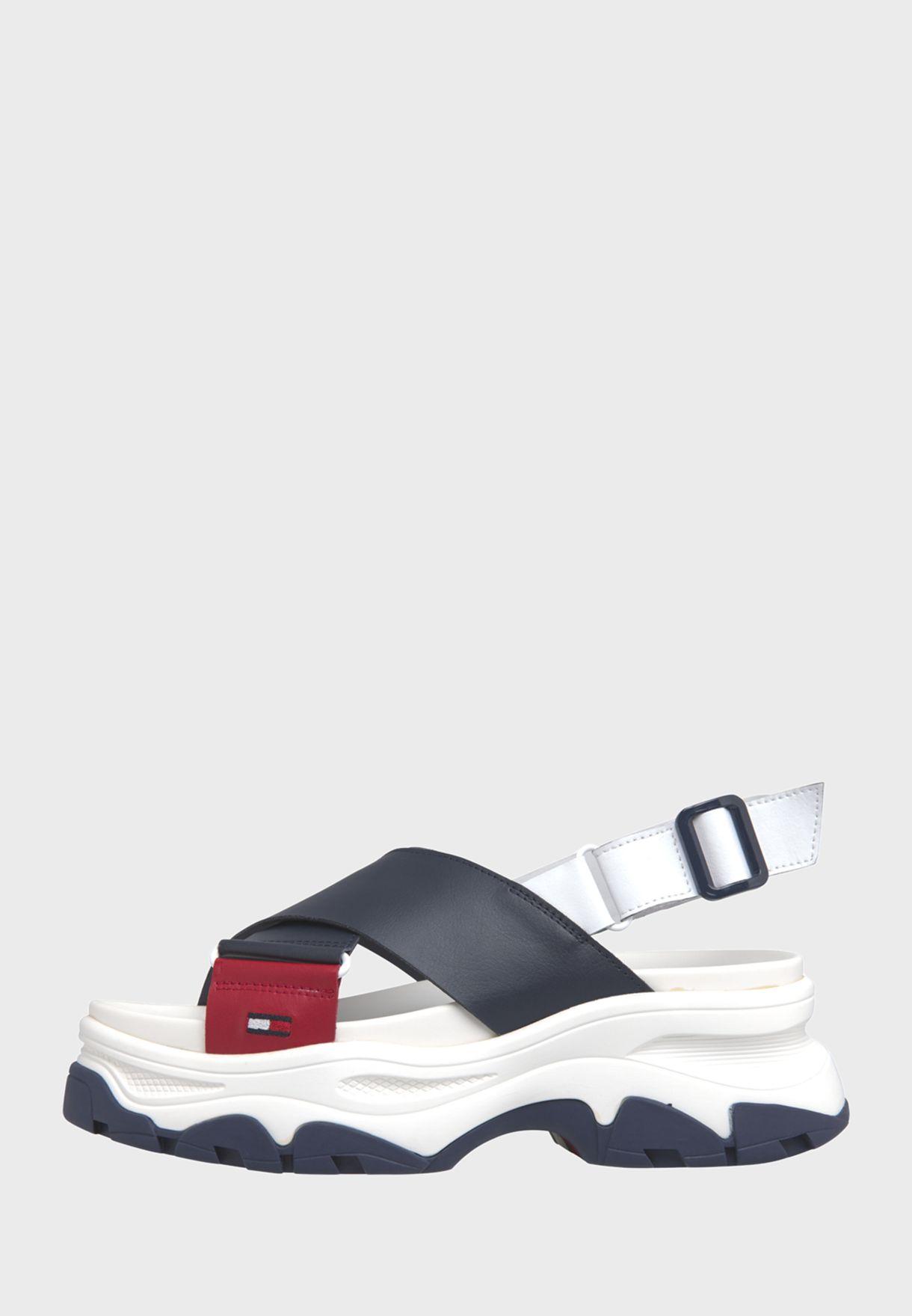 Color Block Hybrid Flat Sandal