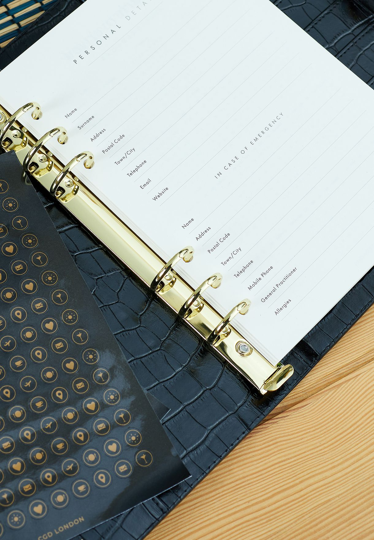 Croc Effect Personal Organiser Cover