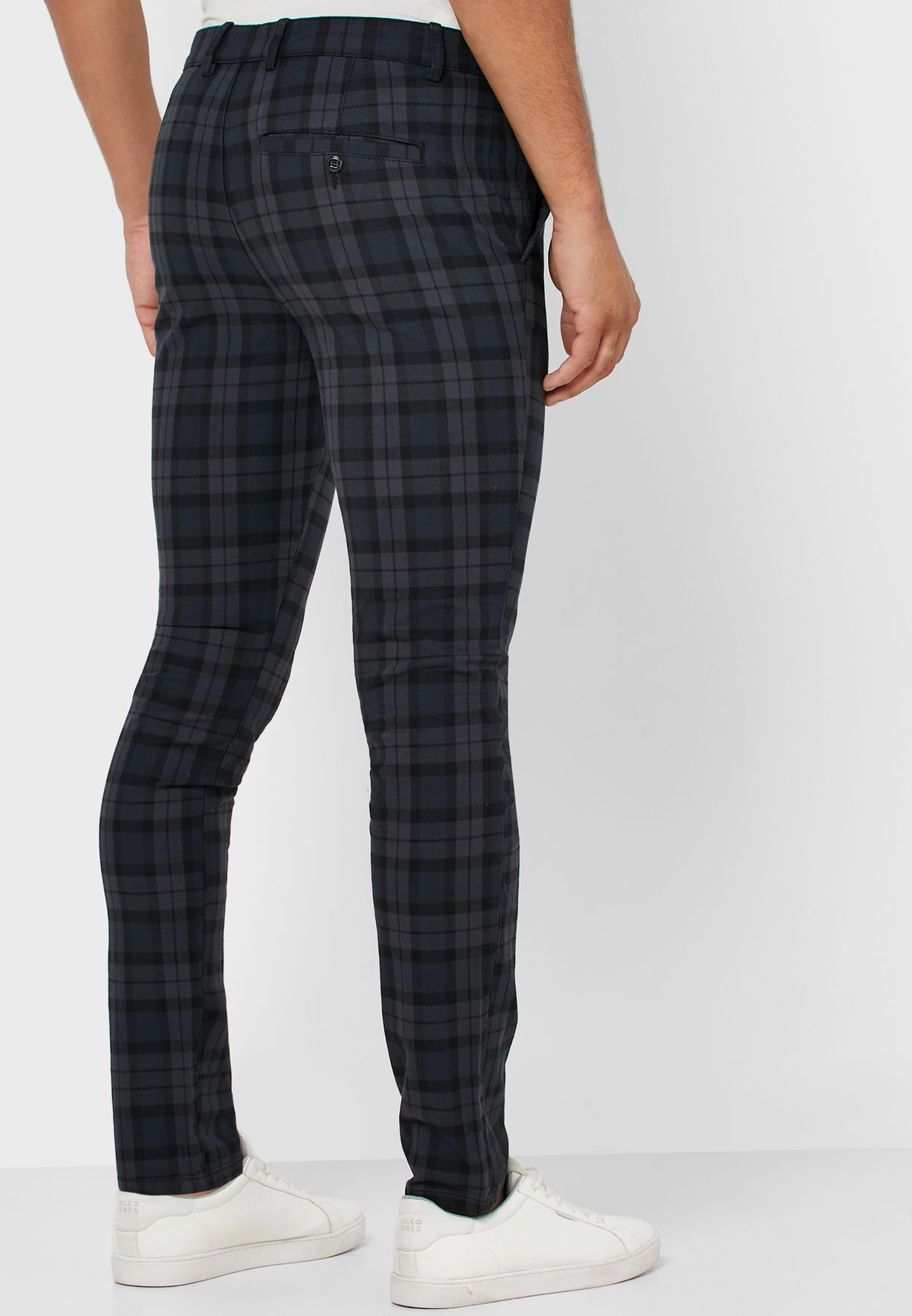 Checkered Slim Fit Trousers