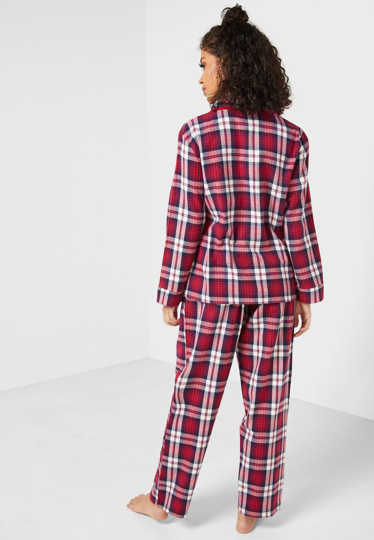 Checked Shirt & Pyjama Set