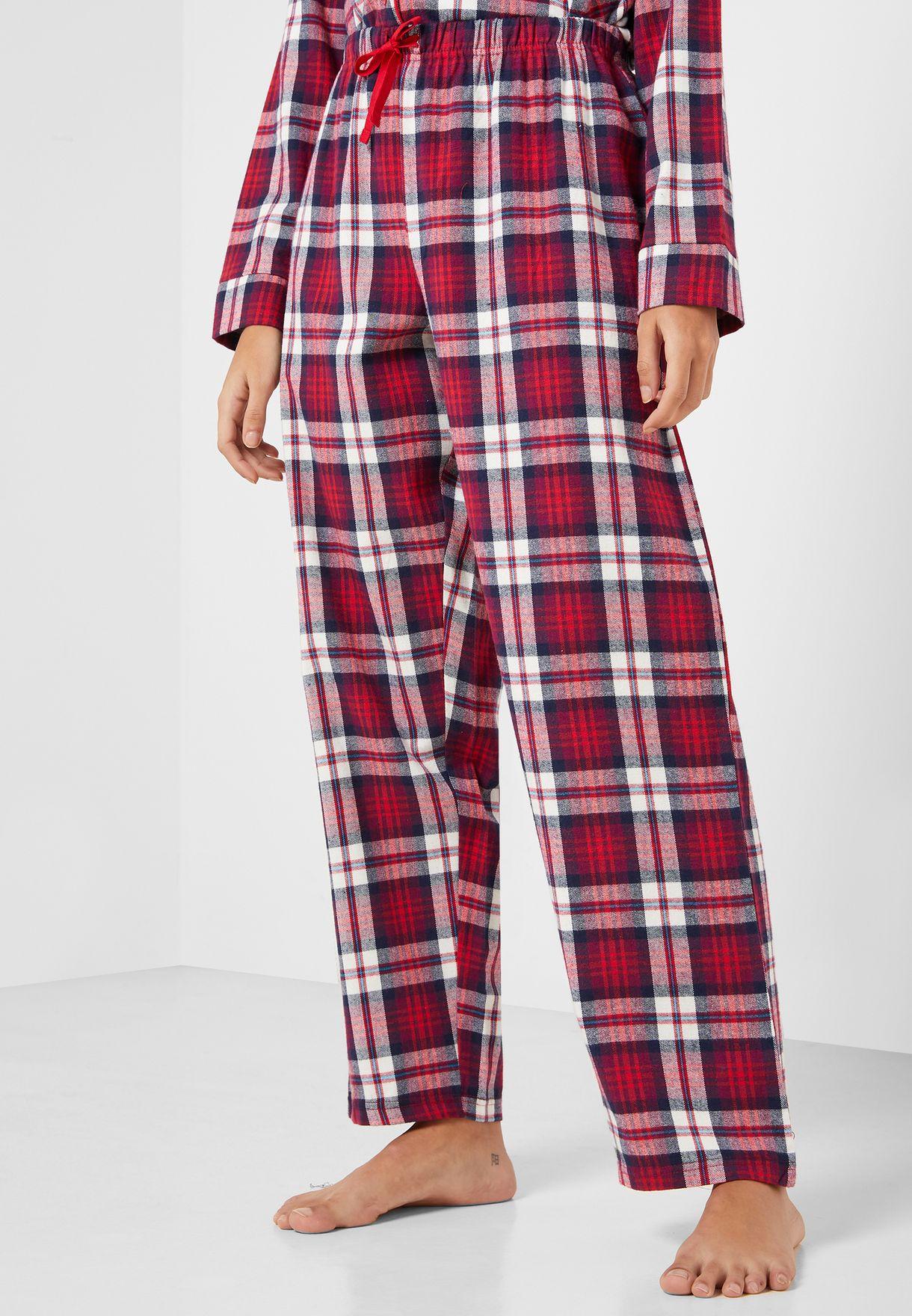 Checked Shirt & Pyjama Set