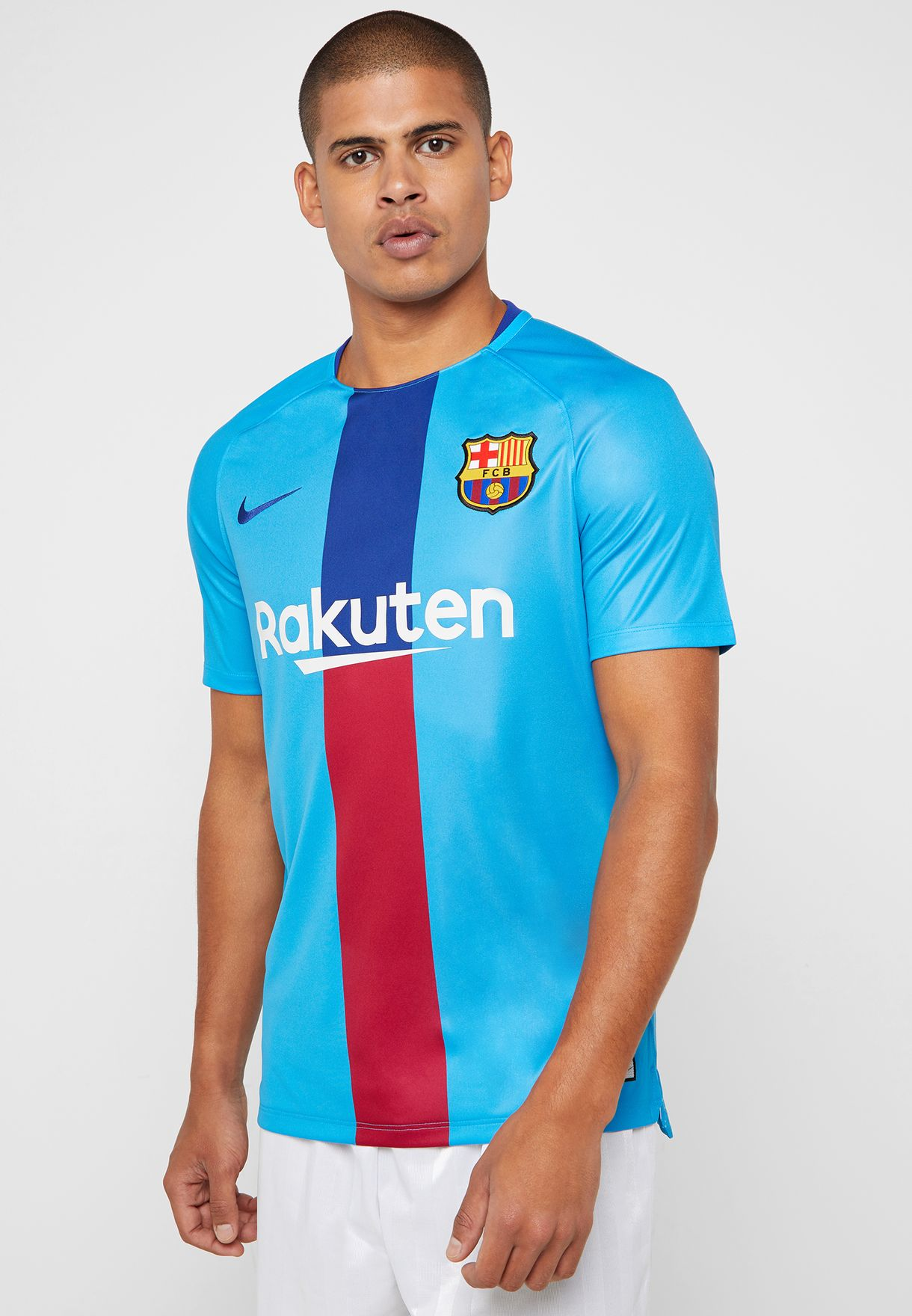 2ea771bda42 Shop Nike blue FC Barcelona Squad T-Shirt 894323-482 for Men in UAE ...
