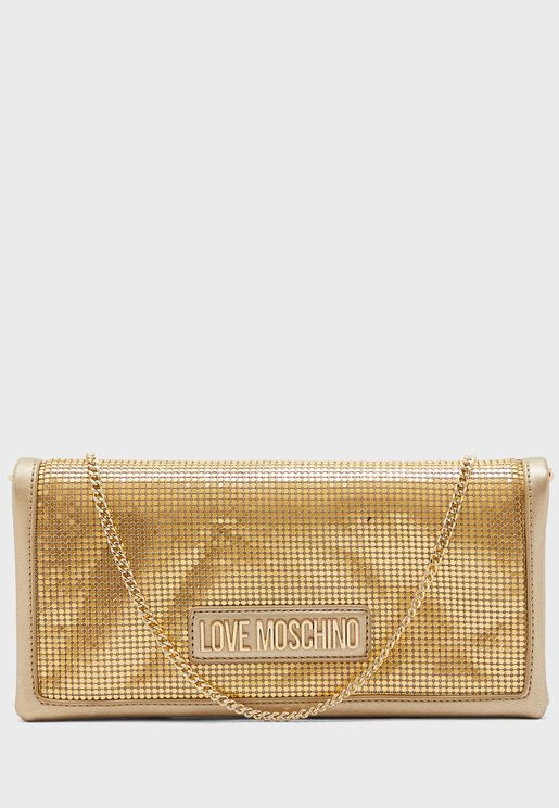 Sequin Mesh Detail Crossbody