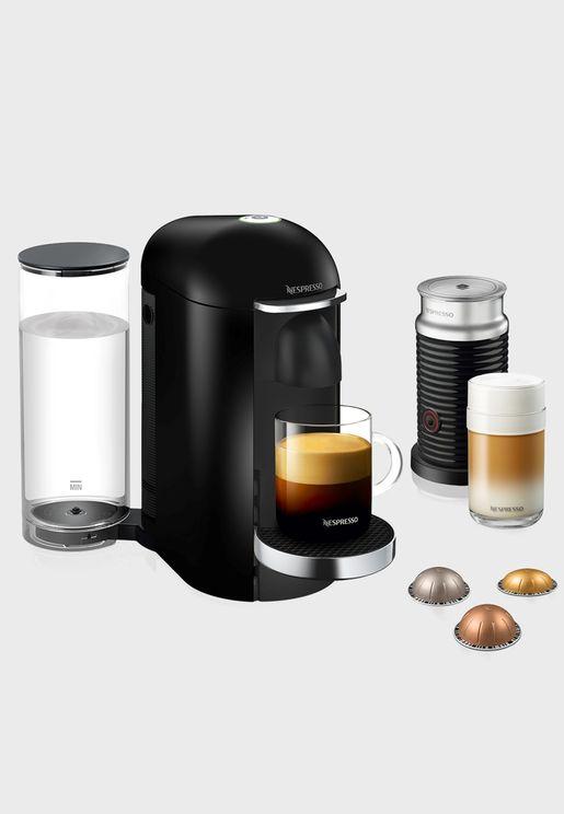 ماكينة صنع القهوة فيرتو بلاس + ايرو بلاك