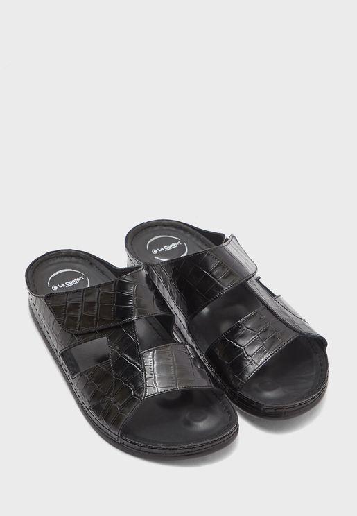 Texture Double Strap Sandal