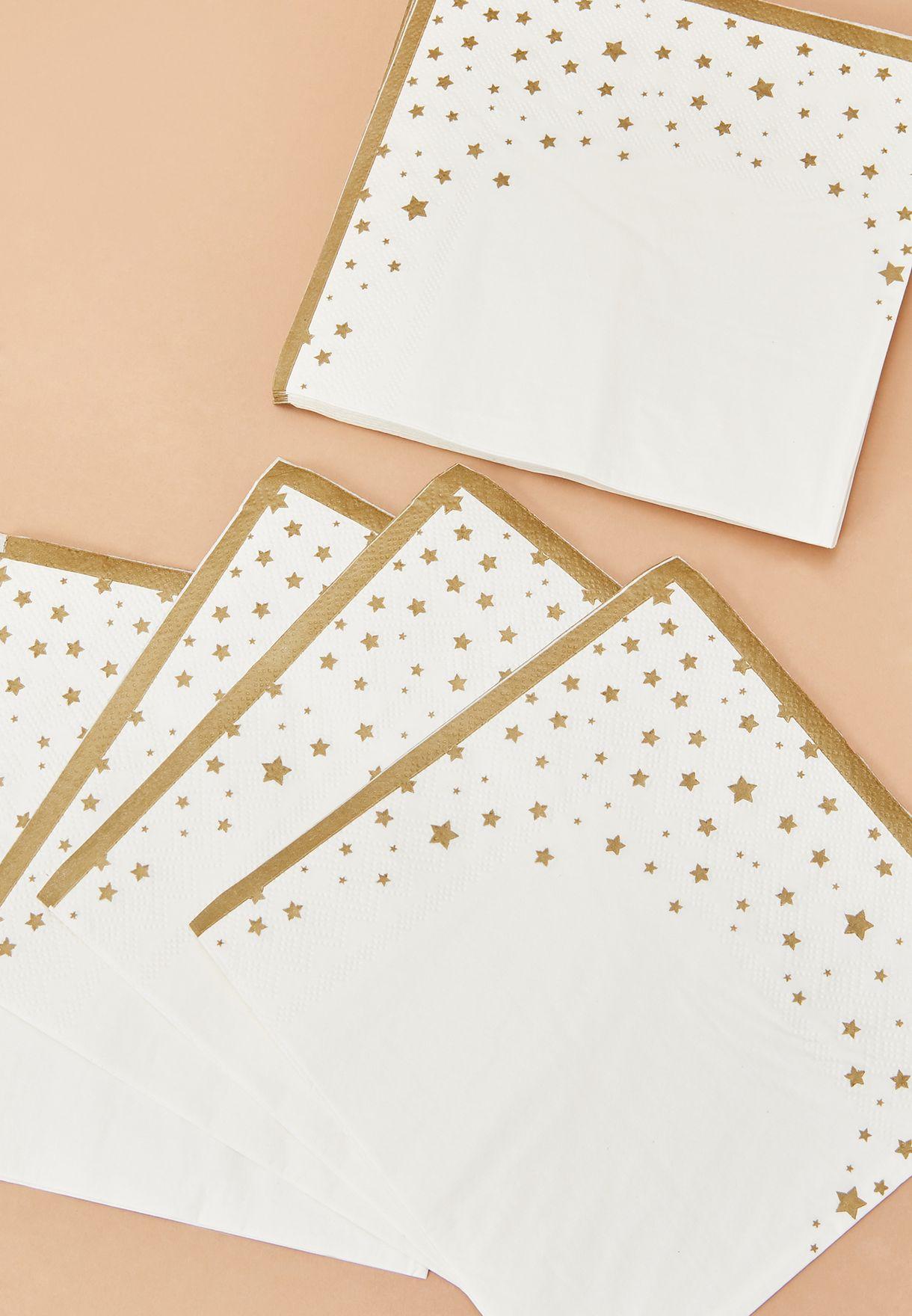 مجموعة من 16 منشفة بطبعات نجوم