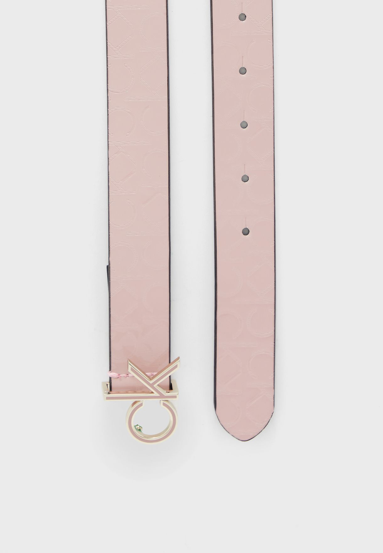 Logo Buckle Allocated Belt