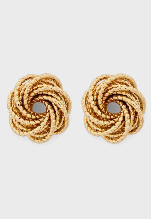 Textured Detail Stud Earrings