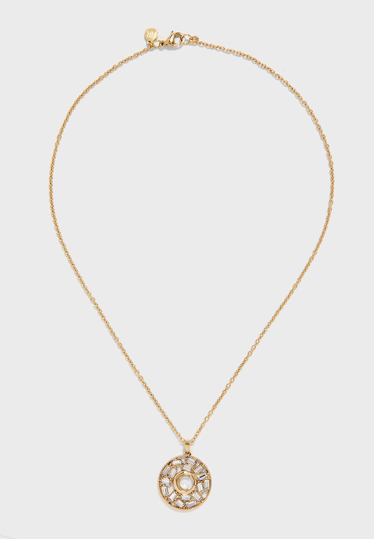 Baguette Stone Detail Necklace